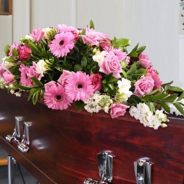 Composizione funebre Rosa