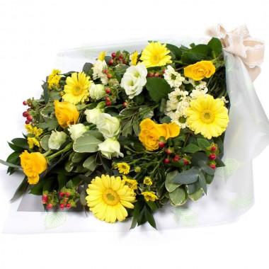 Mazzo funerale giallo