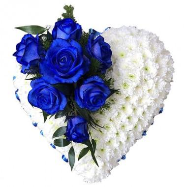 Cuore bianco e blu