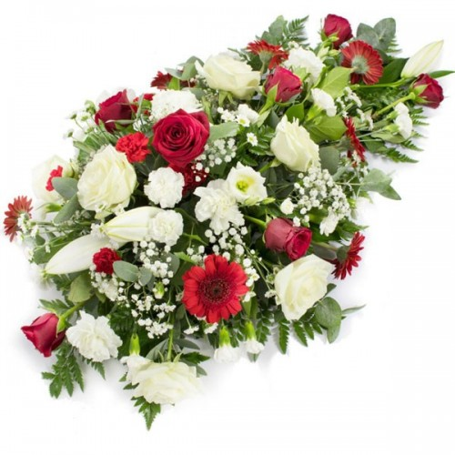 Cuscino Funebre con rose...