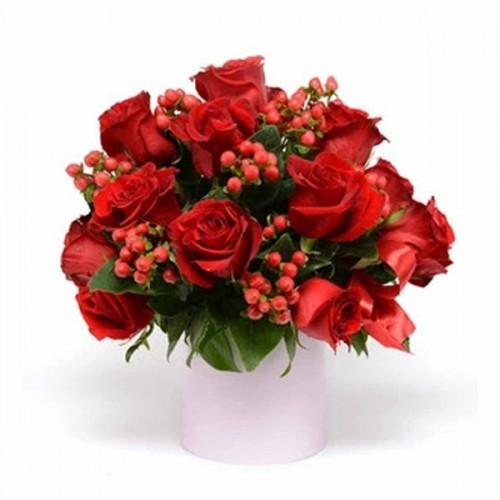 Vaso di Rose Rosse per...